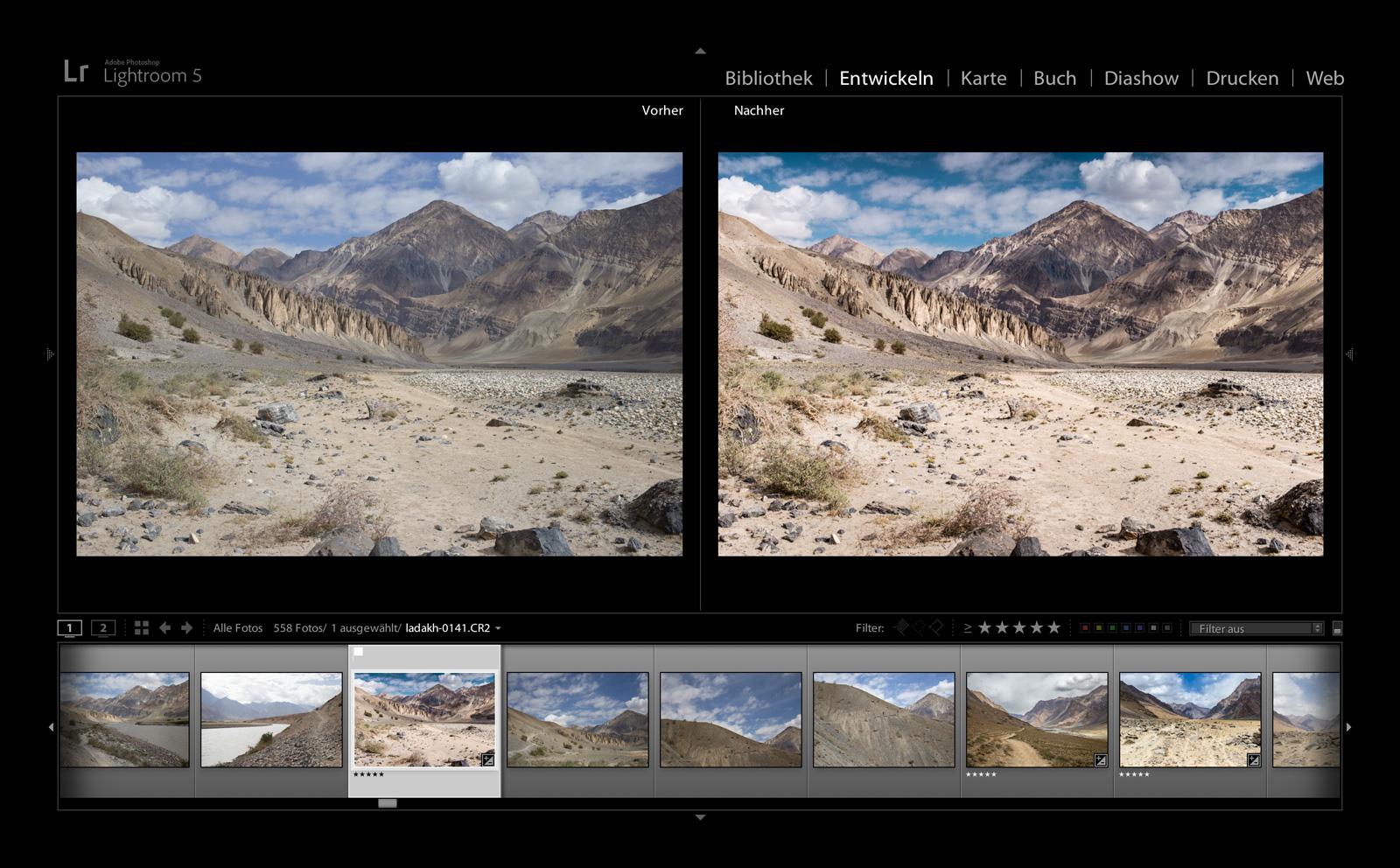 Bildbearbeitung mit Adobe Lightroom®